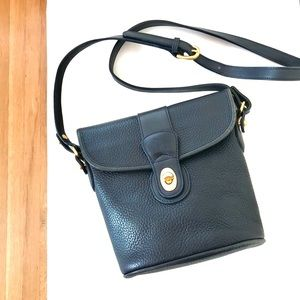 Coach Vintage Pebbled Leather Crossbody Bag Blue